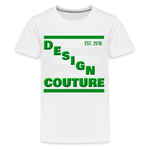 DESIGN COUTURE EST 2016 GREEN - Kids' Premium T-Shirt