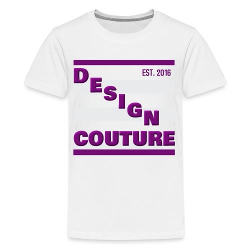 DESIGN COUTURE EST 2016 PURPLE - Kids' Premium T-Shirt