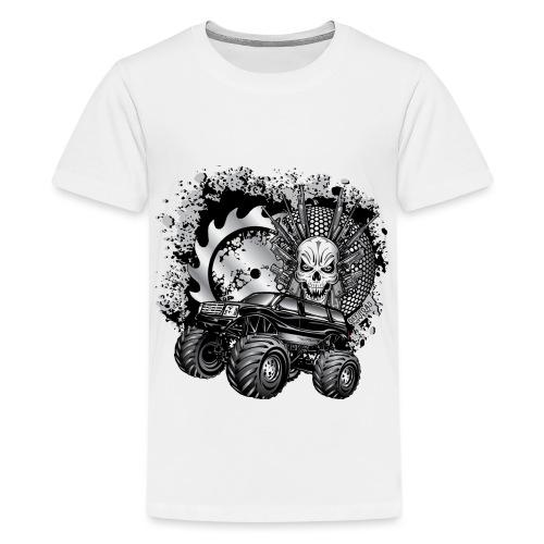 Metallic Monster Truck - Kids' Premium T-Shirt