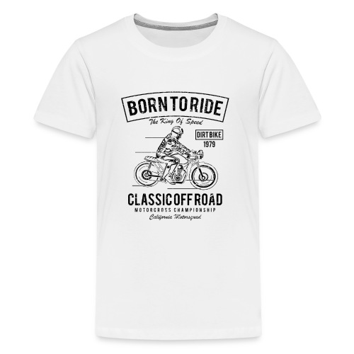 Born To Ride BLACK - Kids' Premium T-Shirt