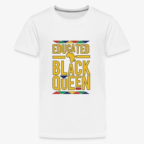 Dashiki Educated BLACK Queen - Kids' Premium T-Shirt