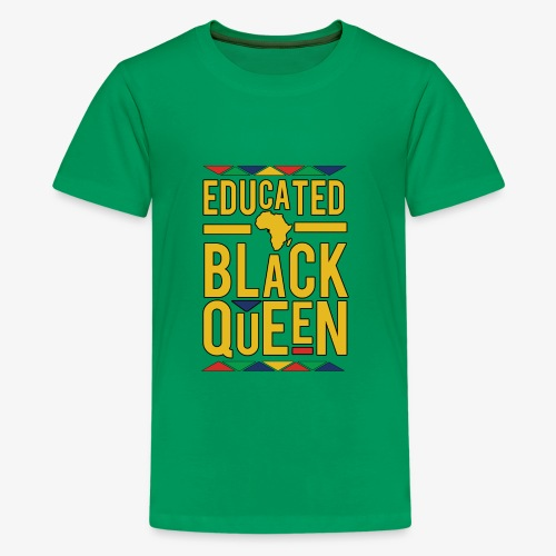 Dashiki Educated BLACK Queen - Kids' Premium T-Shirt