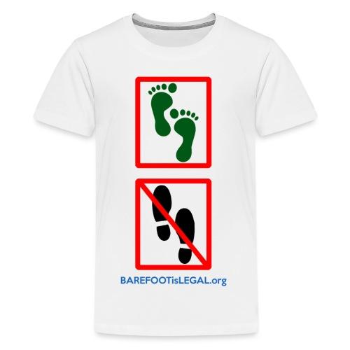 No shoes yes feet - Kids' Premium T-Shirt
