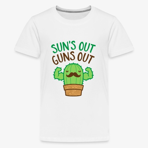 Sun's Out Guns Out Macho Cactus - Kids' Premium T-Shirt