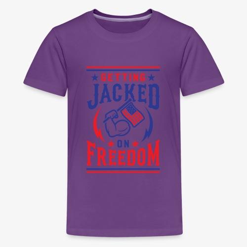 Getting Jacked On Freedom - Kids' Premium T-Shirt