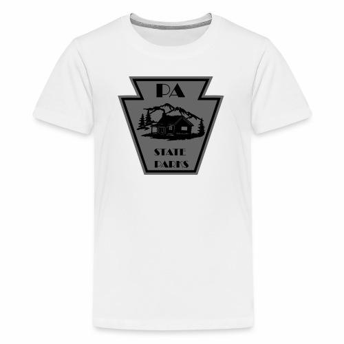 Keystone with Cabin Black and Grey - Kids' Premium T-Shirt