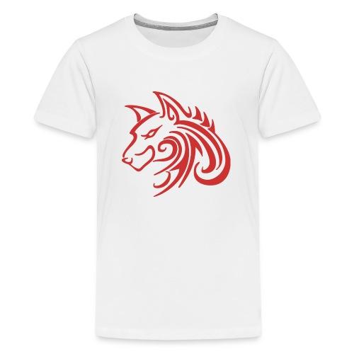 3d31c4ec40ea67a81bf38dcb3d4eeef4 wolf 1 red wolf c - Kids' Premium T-Shirt