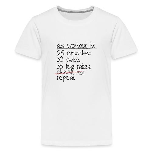 Abs Workout List - Kids' Premium T-Shirt