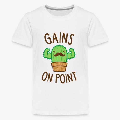 Gains On Point (Cactus Pun) - Kids' Premium T-Shirt