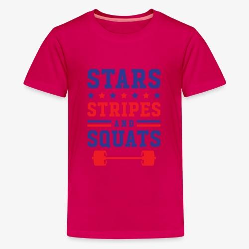 Stars, Stripes And Squats - Kids' Premium T-Shirt