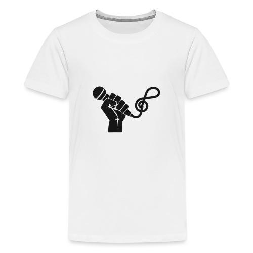 music microphone fist - Kids' Premium T-Shirt