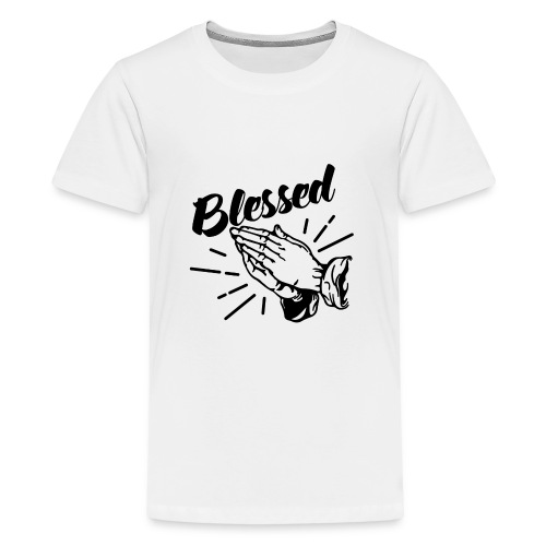 Blessed (Black Letters) - Kids' Premium T-Shirt