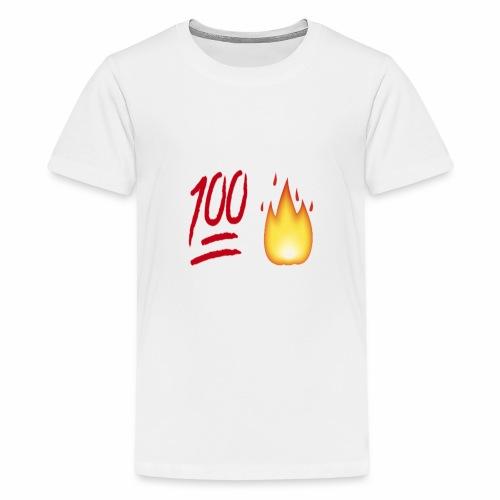 Fire & 100 Design - Kids' Premium T-Shirt
