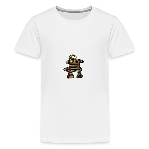 Inuksuk Totem Figure in Gold - Kids' Premium T-Shirt