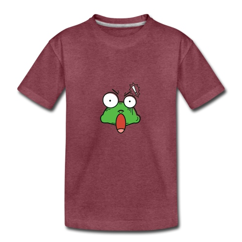 Frog with amazed face expression - Kids' Premium T-Shirt