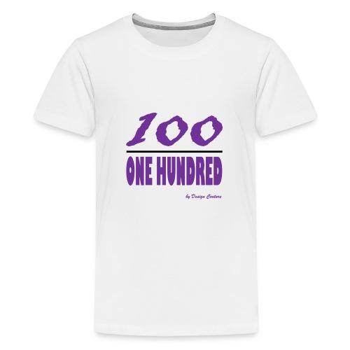 ONE HUNDRED PURPLE - Kids' Premium T-Shirt