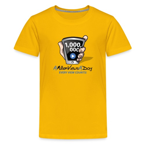 AMillionViewsADay - every view counts! - Kids' Premium T-Shirt