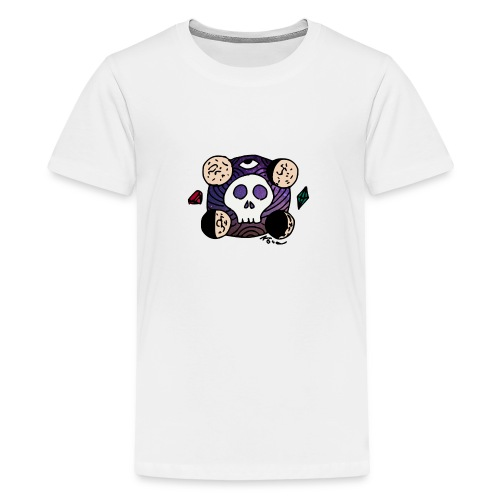 Moon Skull from Outer Space - Kids' Premium T-Shirt