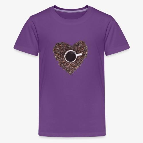 I Heart Coffee Black/White Mug - Kids' Premium T-Shirt