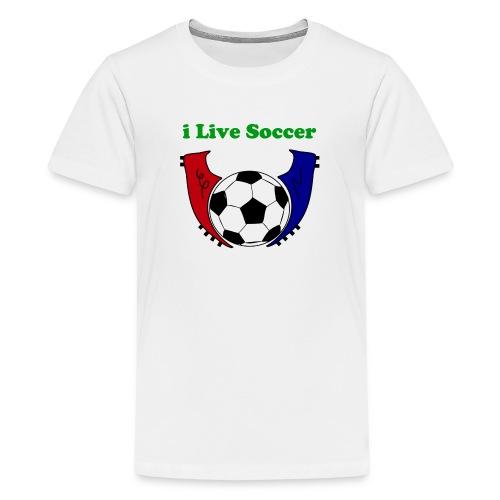 i live soccer shirt - Kids' Premium T-Shirt