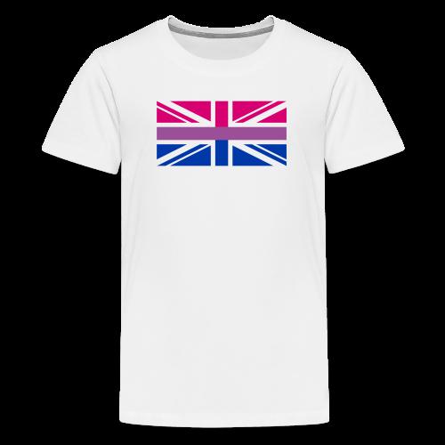 Gay Pride LGBT Bisexual Bi GB UK Union Jack Flag - Kids' Premium T-Shirt