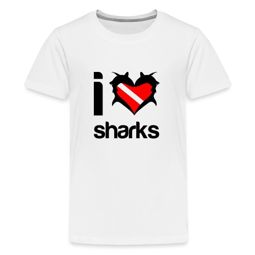 I Love Sharks - Kids' Premium T-Shirt