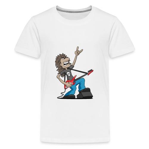 Heavy Metal Rock Guitarist Cartoon - Kids' Premium T-Shirt