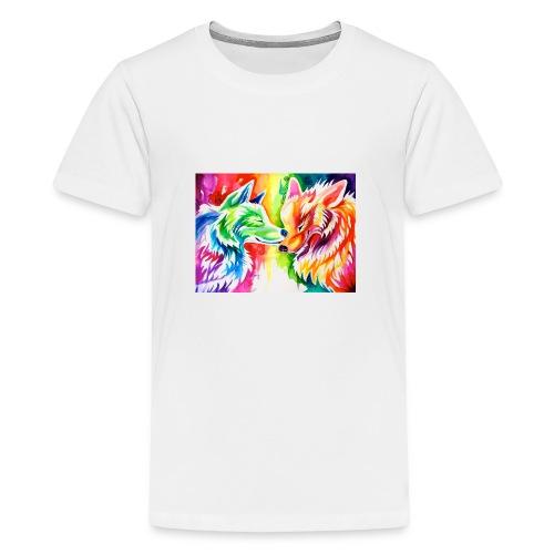 cute wolf - Kids' Premium T-Shirt