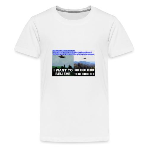 tshirt i want to believe - Kids' Premium T-Shirt