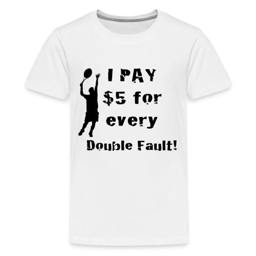Tennis Double Fault - Kids' Premium T-Shirt