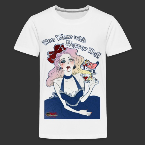 Tea Time With Horror Doll - Kids' Premium T-Shirt