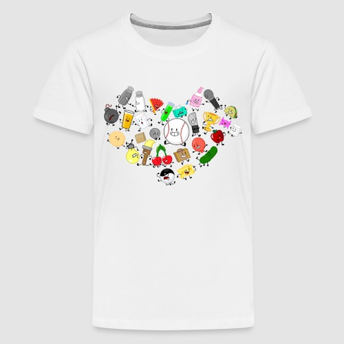 Inanimate Heart Color - Kids' Premium T-Shirt