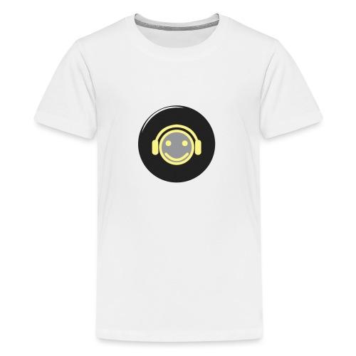 music happy face record - Kids' Premium T-Shirt