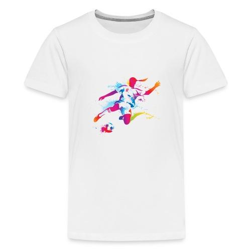 Women's Soccer Color Splatter - Kids' Premium T-Shirt