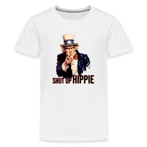 SHUT UP HIPPIE WHITE OUTL - Kids' Premium T-Shirt