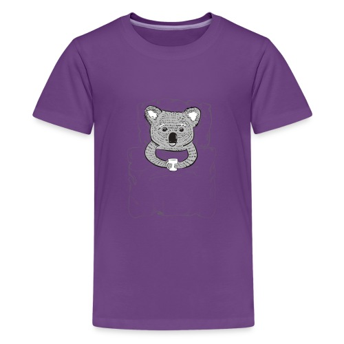 Print With Koala Lying In A Bed - Kids' Premium T-Shirt