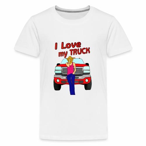 Girls Love Trucks Too - Kids' Premium T-Shirt