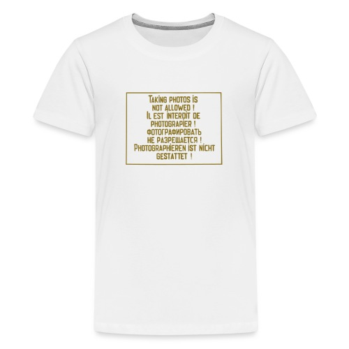 No photography allowed. - Kids' Premium T-Shirt
