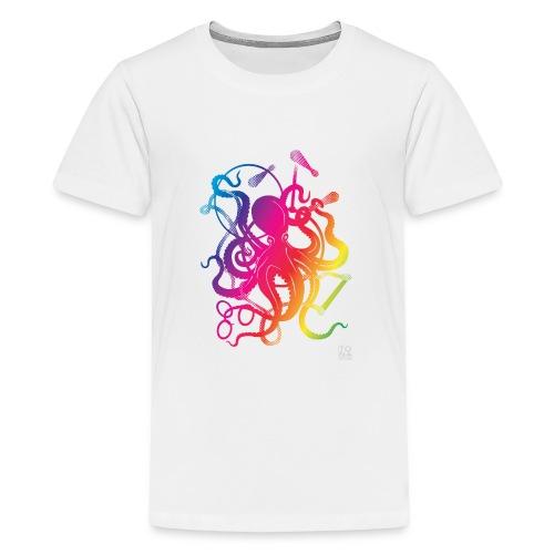 Rainbow Circus Octopus - Kids' Premium T-Shirt