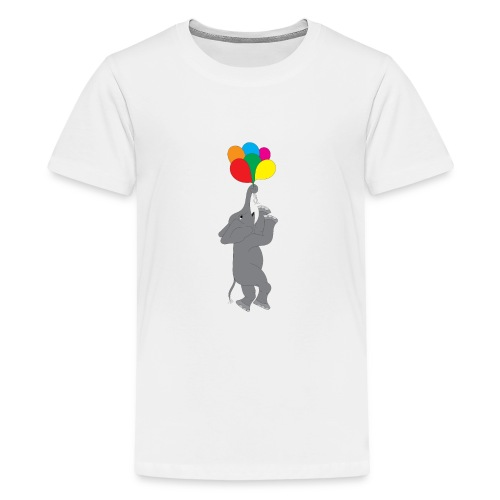 Flying Elephant 01 - Kids' Premium T-Shirt