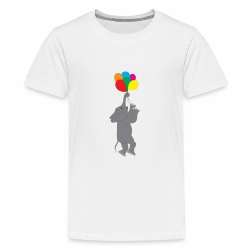 Flying Elephant 01 - Kids' Premium T-Shirt