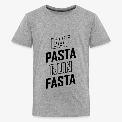 Eat Pasta Run Fasta v2 - Kids' Premium T-Shirt
