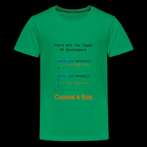 Code Styling Preference Shirt - Kids' Premium T-Shirt
