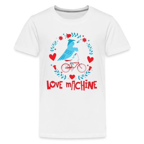Cute Love Machine Bird - Kids' Premium T-Shirt