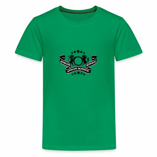 Atheist Republic Logo - Banner & Stars - Kids' Premium T-Shirt