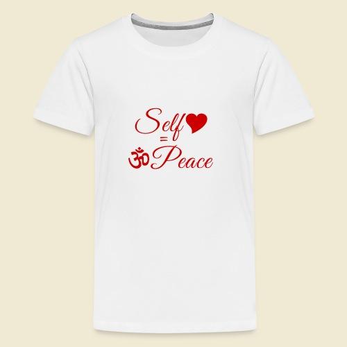 108-lSa Inspi-Quote-83.b Self-love = OM-Peace - Kids' Premium T-Shirt