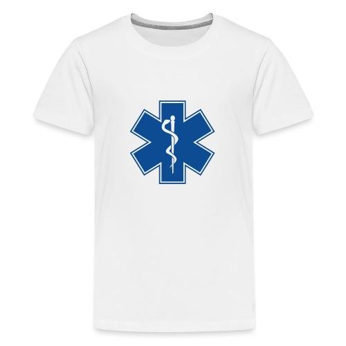 EMT Health Care Rod of Asclepius Medical Symbol - Kids' Premium T-Shirt