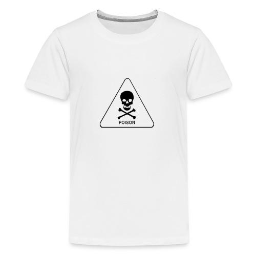 white tox symbol - Kids' Premium T-Shirt