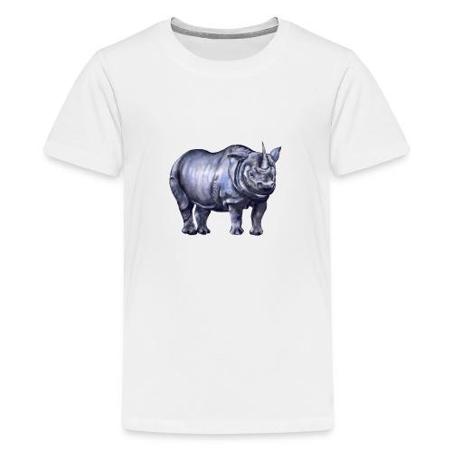 One horned rhino - Kids' Premium T-Shirt