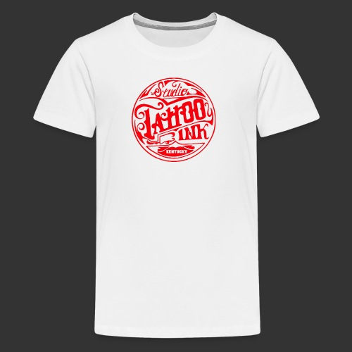 theright oneSTUDIO INK LOGOred edited 3 png - Kids' Premium T-Shirt